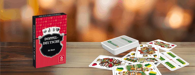 Portfolio Detailseiten Traditionelle Doppeldeutsche Karten
