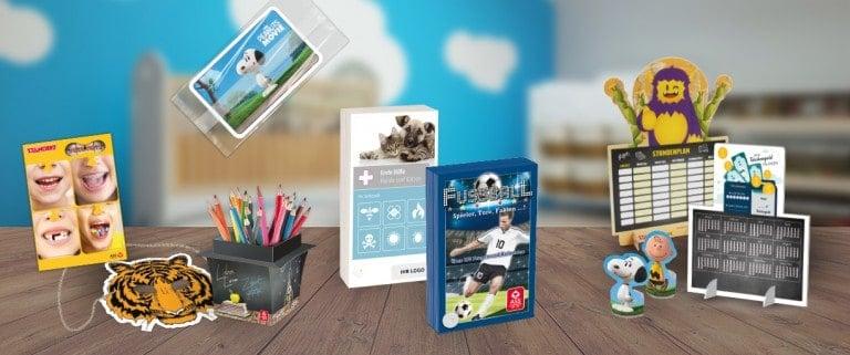 PMS Produkt Header Maske Box Fächer Flowpack Kalender Stundenplan Figuren