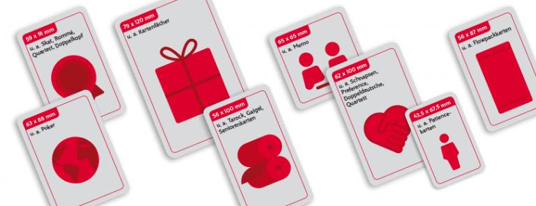 Verpackungen Speziell Kartenformate