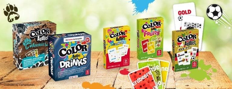 Abbildung Varianten von Color Addict Schachteln