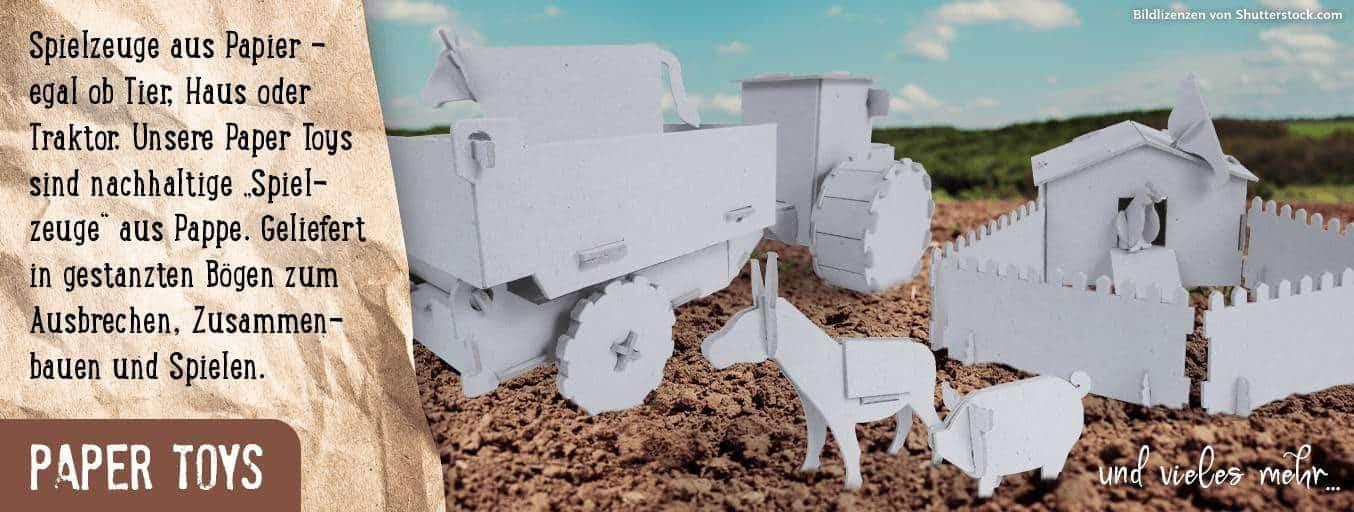 Paper Toys - Spielzeug aus Papier Bauernhofmotive Landwirtschaft