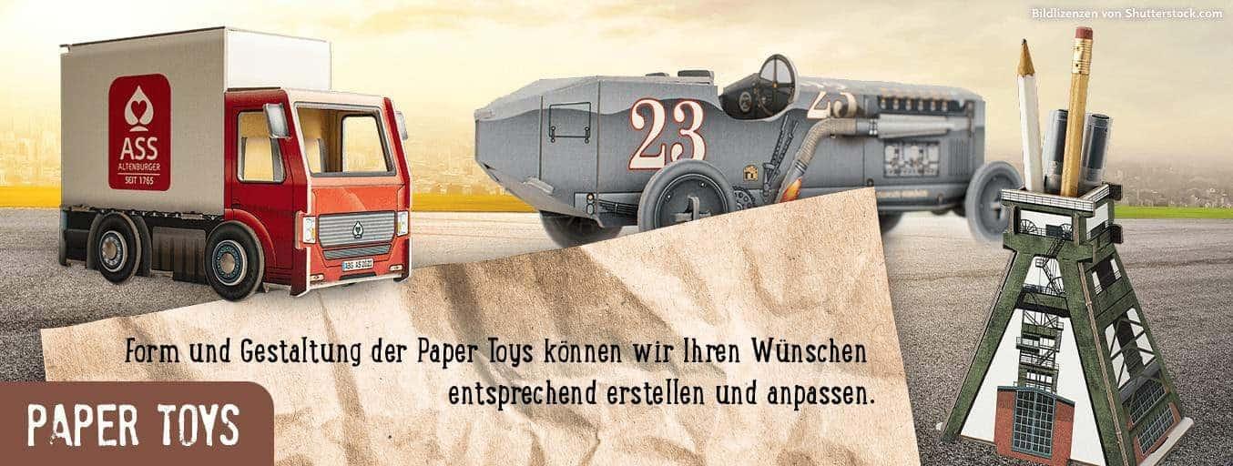 Paper Toys - Spielzeug aus Papier Fahrzeuge und Architektur Paper World