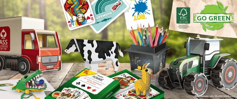 Go Green - Nachhaltigkeit - Spielzeug aus Papier - FSC | Paper World