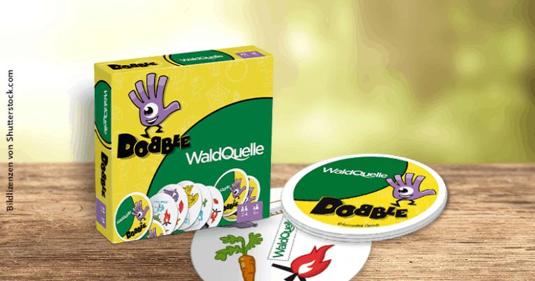 Spiel Dobble mit Werbeanbringung von Waldquelle